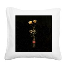 Yellow Roses Square 3 Square Canvas Pillow