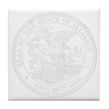 Vintage Illinois State Seal Tile Coaster