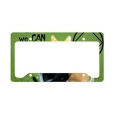 cats together License Plate Holder