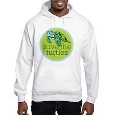 Save Turtles Logo Hoodie
