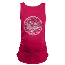 Vintage West Virginia Seal Maternity Tank Top