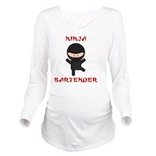 ninja bartender nake Long Sleeve Maternity T-Shirt