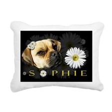 Sophie Black Rectangular Canvas Pillow