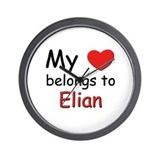 My heart belongs to elian Wall Clock