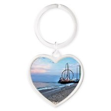 Seaside Heights Ferris Wheel Heart Keychain