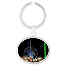 Ferris Wheel Oval Keychain