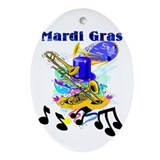 Mardi Gras Music Oval Ornament