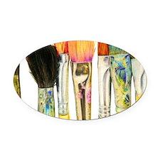 artist-paint-brushes-02 Oval Car Magnet