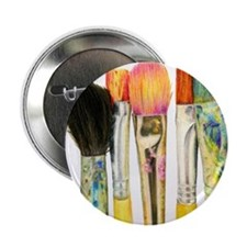 "artist-paint-brushes-02 2.25"" Button"
