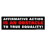 Affirmative Action 1 Bumper Bumper Sticker
