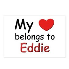 My heart belongs to eddie Postcards (Package of 8)