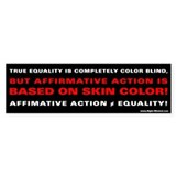 Affirmatice Action 2 Bumper Bumper Sticker