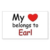 My heart belongs to earl Rectangle Decal