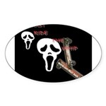ghost ride the whip Oval Sticker