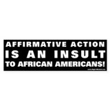 Affirmative Action 3 Bumper Bumper Sticker
