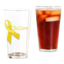 trans_i_wear_yellow_wife Drinking Glass
