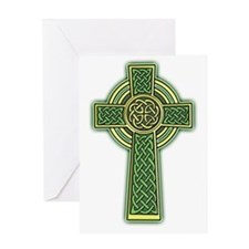 Celtic Cross 2 light Greeting Card