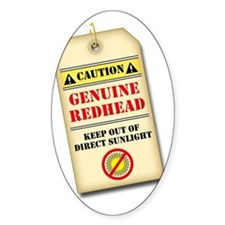genuine redhead tag light Decal