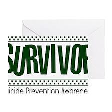 green_survivor Greeting Card