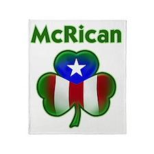 McRican_both Throw Blanket