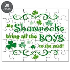 my_shamrocks_bring_boys_to_yard_both Puzzle