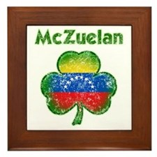 McZuelan distressed both Framed Tile