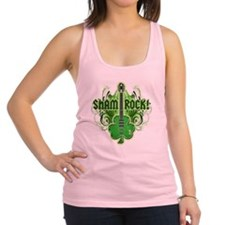 sham_ROCKS_filligree_and_text_b Racerback Tank Top