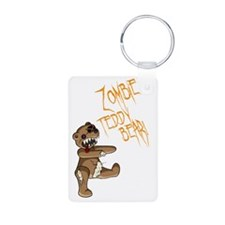 zombieteddybear with text Keychains