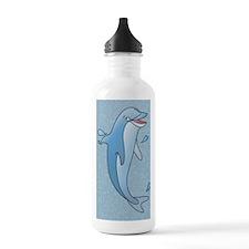 dolphin-5x8_journal Water Bottle