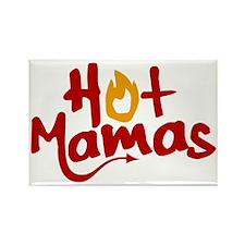 Hot Mamas Logo for Dark Bkg Rectangle Magnet