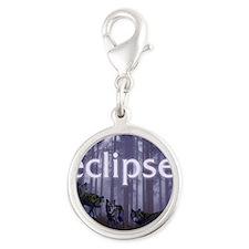 Twilight Eclipse Silver Round Charm