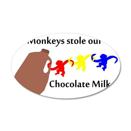 MonkeyMilk 35x21 Oval Wall Decal