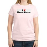 I Love Ham & Cheese Women's Pink T-Shirt