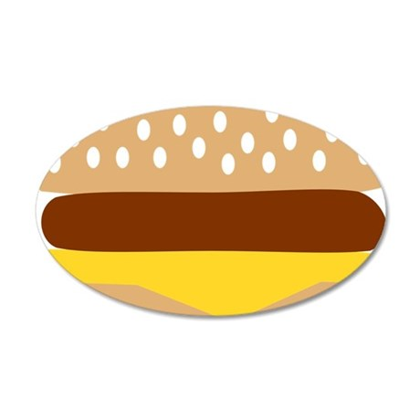 burger 35x21 Oval Wall Decal