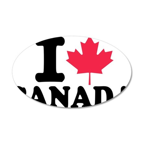 i_leaf_canada 35x21 Oval Wall Decal