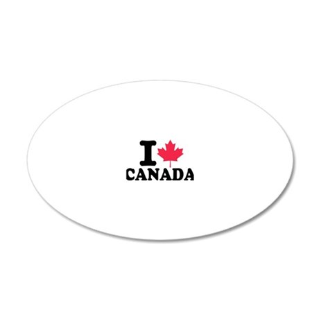 i_leaf_canada 20x12 Oval Wall Decal