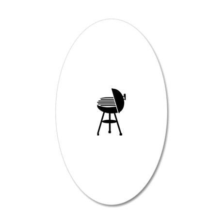 kettle_barbecue3 20x12 Oval Wall Decal