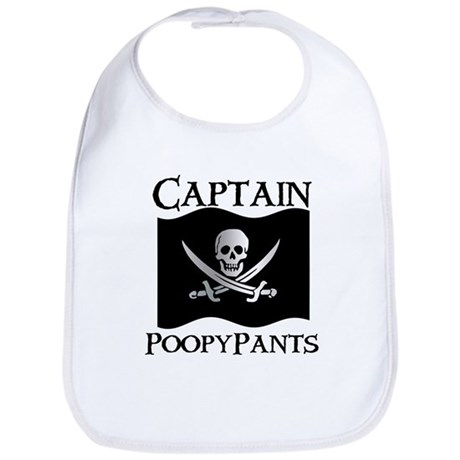 Captain Poopypants Bib