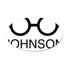 johnson Oval Car Magnet