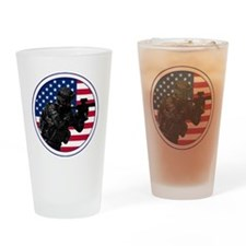 Americansoldierroundlogo Drinking Glass