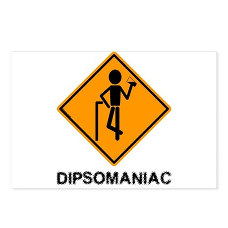 Caution Dipsomaniac Postcards (Package of 8)