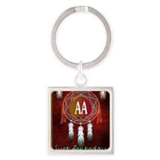 AA INDIAN Square Keychain