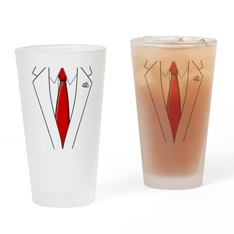 HitmanShirt Drinking Glass