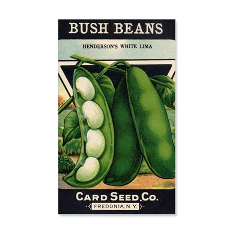 Bush Beans White Lima antique see 35x21 Wall Decal