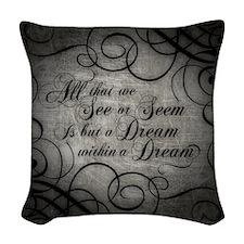 dream-within-a dream_b Woven Throw Pillow