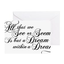 dream-within-a dream_bl Greeting Card