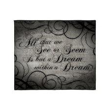 dream-within-a dream_12x18 Throw Blanket