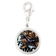 Sumo7s_back Silver Round Charm