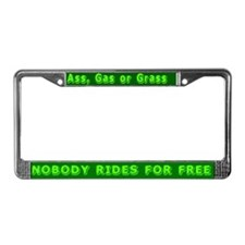 Ass, Gas or Grass License Plate Frame
