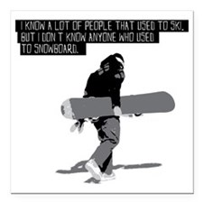 "Snowboarder Square Car Magnet 3"" x 3"""